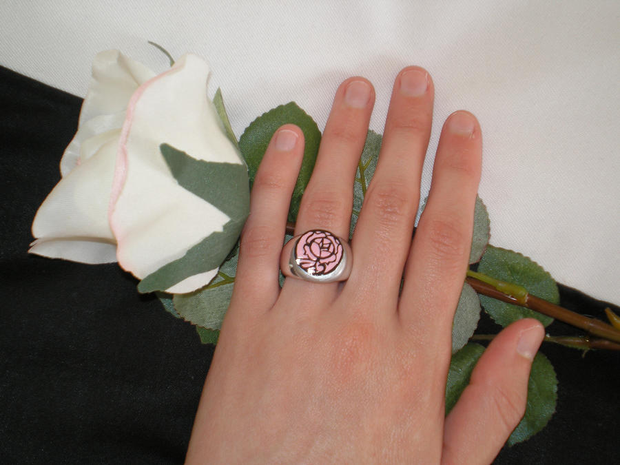 Utena's Rose Seal Ring by TyraelsWings