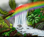 Gift: Tropical Waterfall