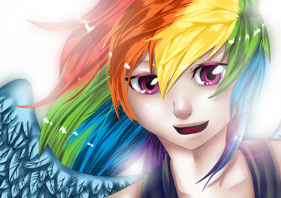 Rainbow Dash - Speedpaint by firstsky