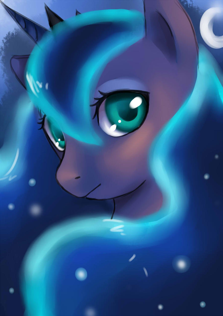 Luna - Night by firstsky