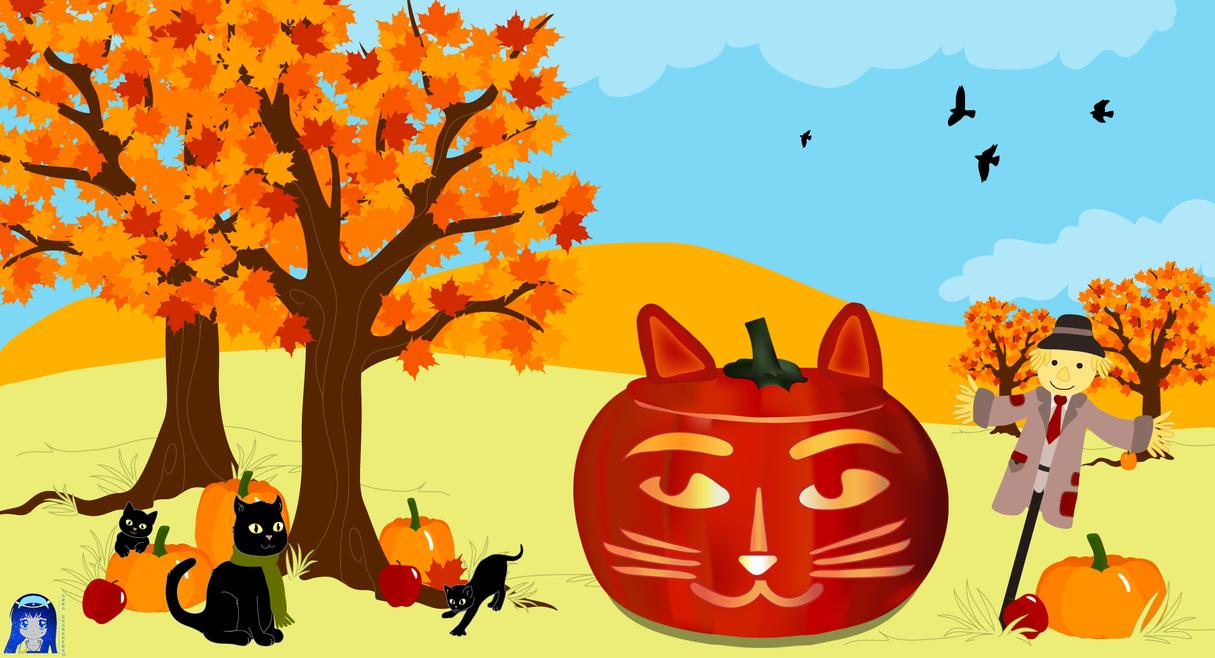 Pumpkin-Cat by Kit2000andAnna