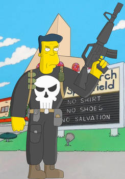 Punisher in Simpsons