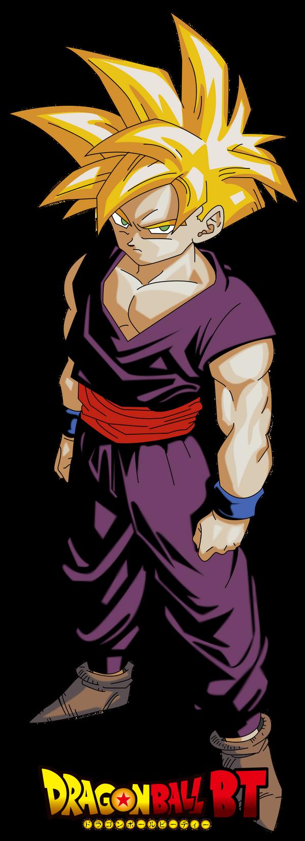 Kid Gohan Super Saiyan...