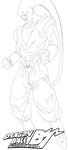 Super Buu - Gohan Absorbed Lineart by Peetzaahhh2010
