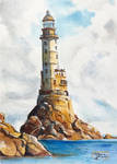 World Watercolor Month - Day 4 (Lighthouse)