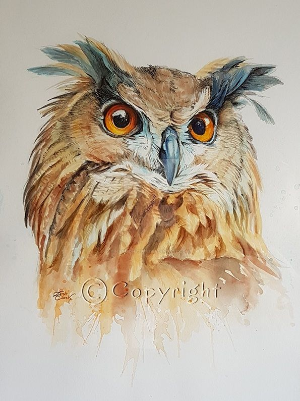 Majestic Eagle Owl (SOLD) by Harmony1965