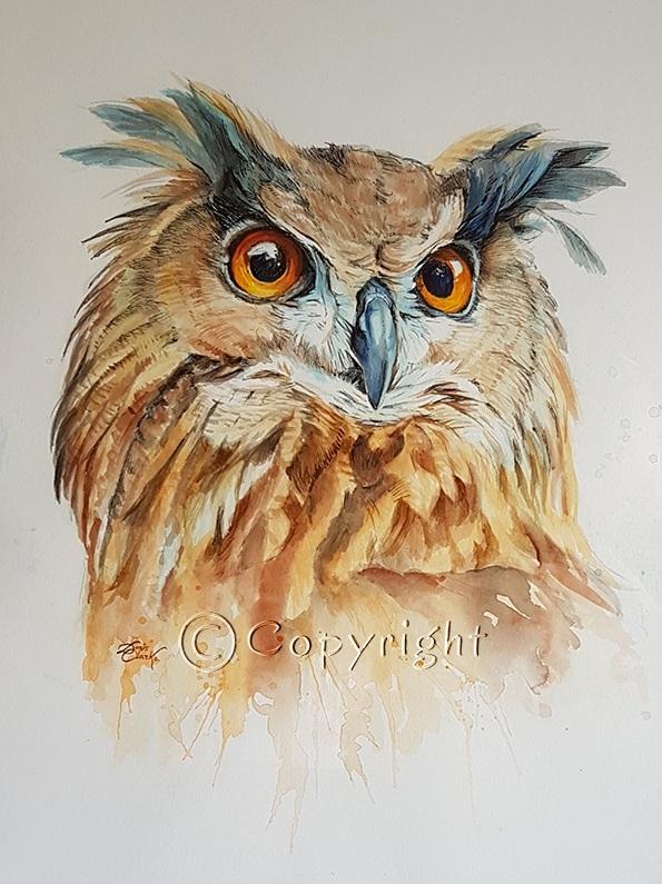 Majestic Eagle Owl (SOLD)