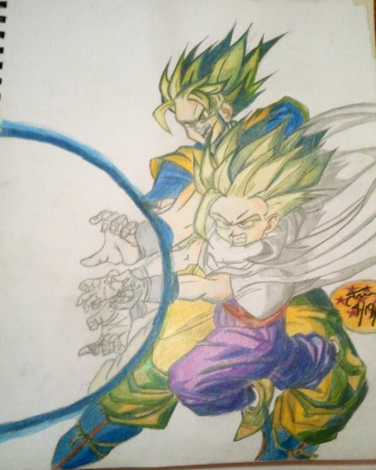 Father Son Kamehameha Drawing