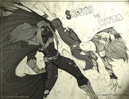 SHADOW VS KYZA by DRAKEFORD