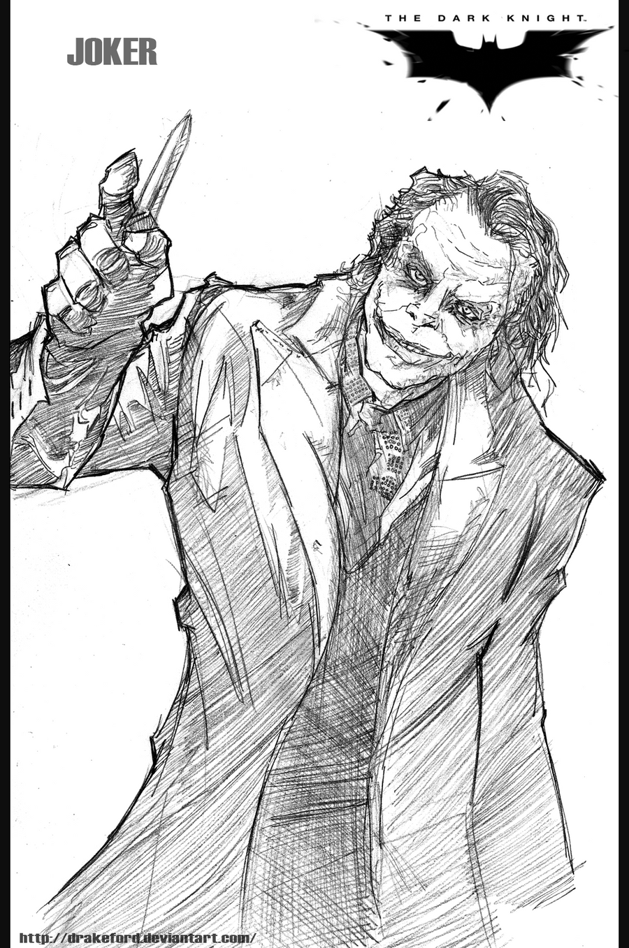 Joker the dark knight by drakeford on deviantart for The dark knight coloring pages