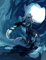 Encounter in the Ice Tunnel by TheTiedTigress
