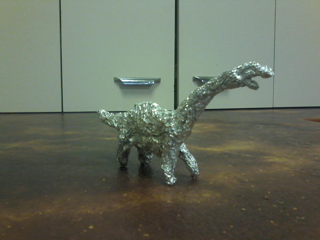 tin foil Diplodocus - Angle 2 by themonsterdude