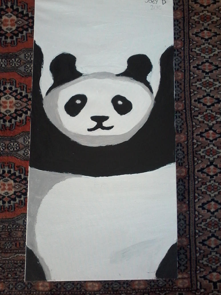 panda painting by themonsterdude