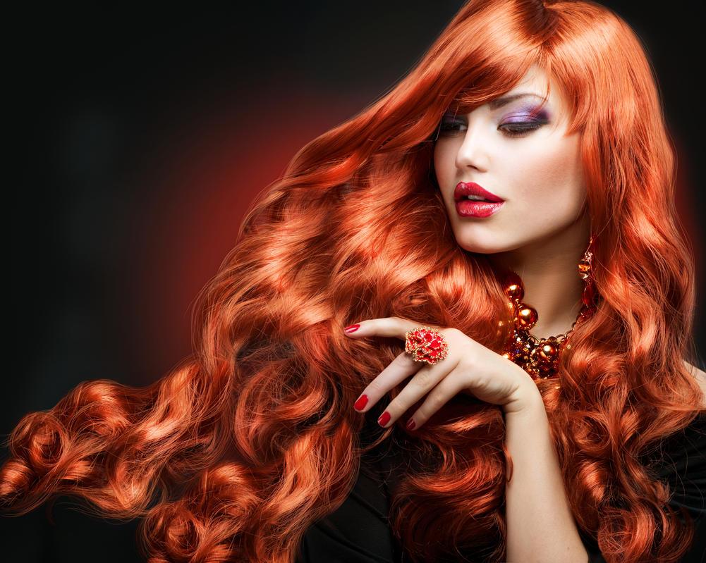 Red Hair Fashion Girl Portrait By Shashaa On Deviantart