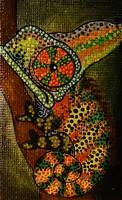 Little Chameleon painting