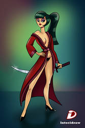 Woman and Sword 02 by intocidraw