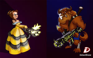 Beauty and the Beast fan Art by intocidraw