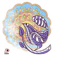 Mandala Bird by intocidraw