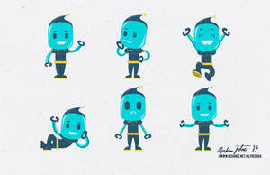 Robot Character Design by intocidraw