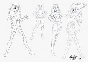 Supergirl Commission sketches by intocidraw