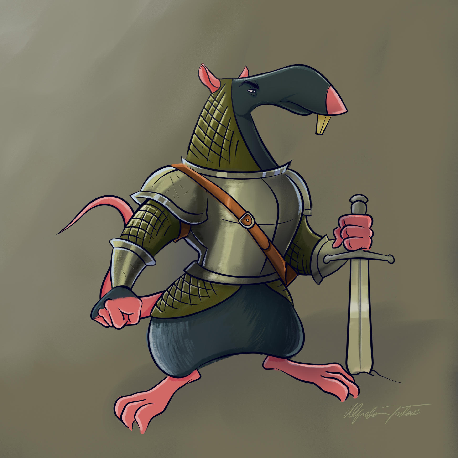 Knight rat concept by intocidraw