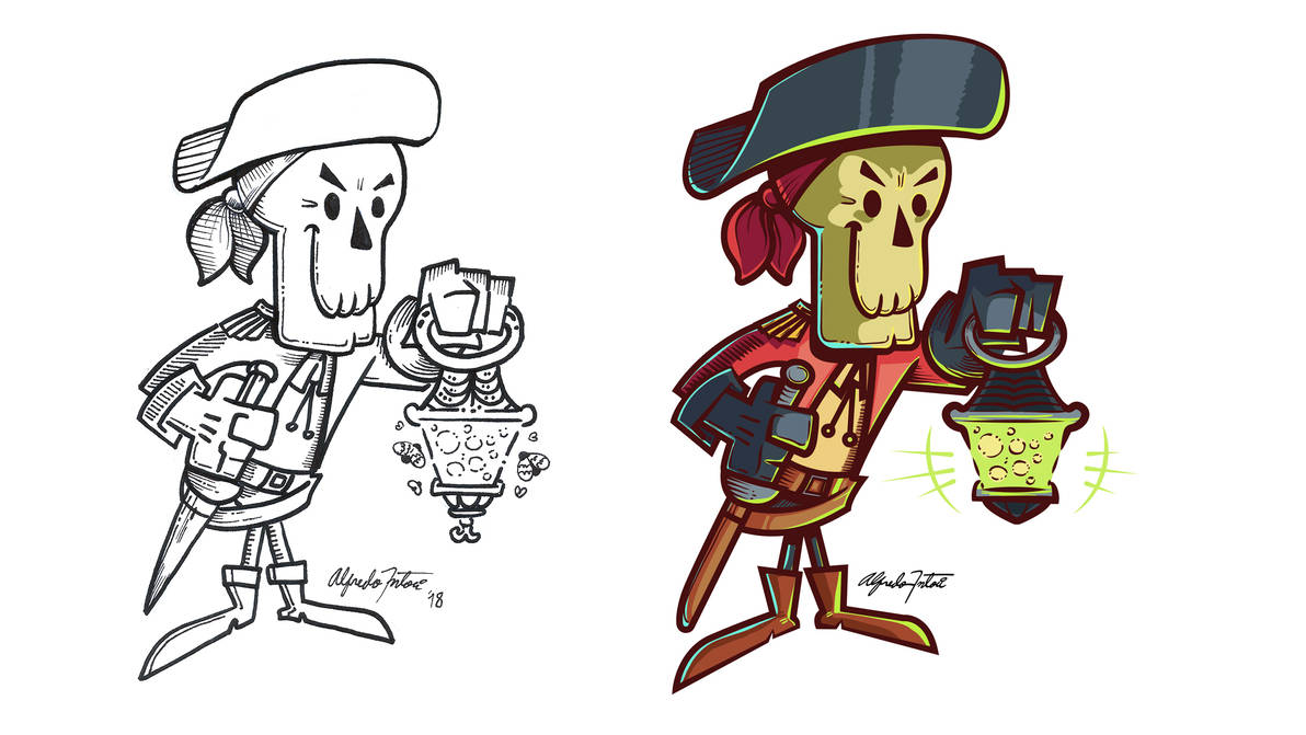 Pirate Skeleton Character.