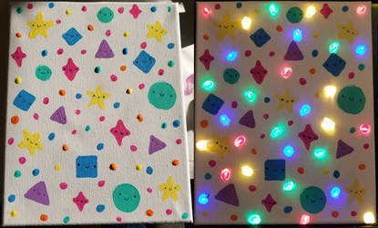 String Lights in a Canvas!
