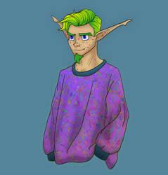 Jak in a cute sweater