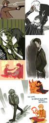 Sherlock Doodles JULY Part 1 by feyuca