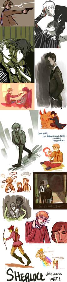 Sherlock Doodles JULY Part 1