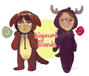 Hannibal Kigurumi Stickers by feyuca