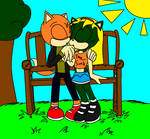 Kiki and Kai at the park