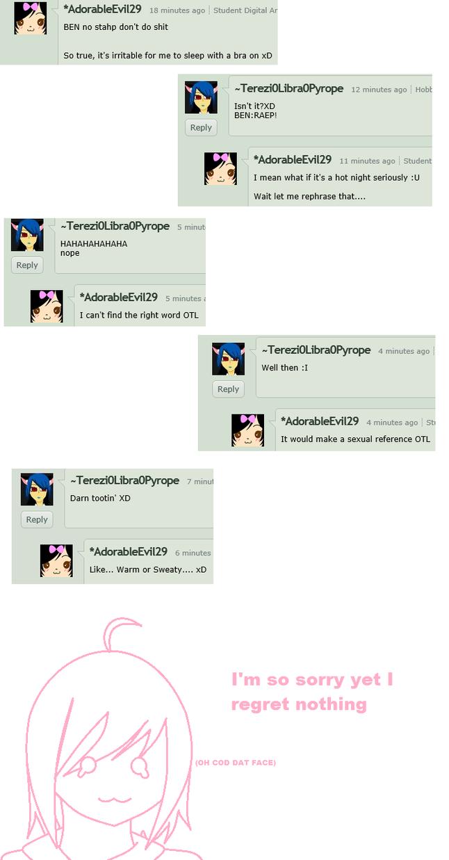 conversation between me and neko by adorableevil29 digital art