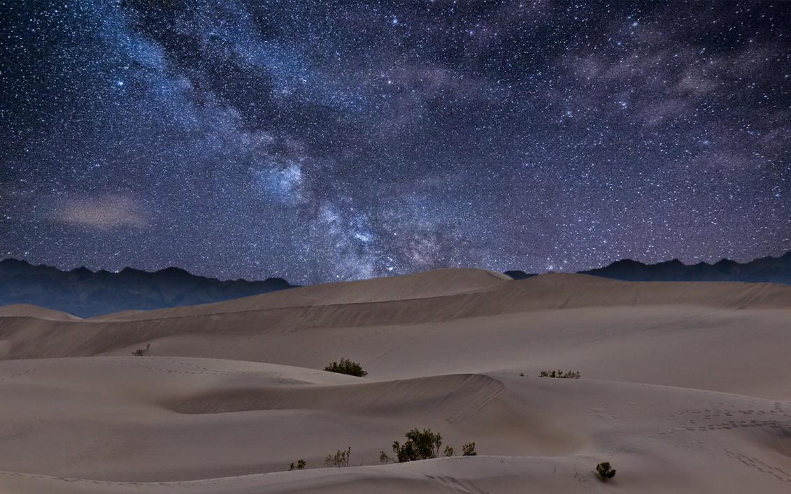 Desert Night Sky Wallpaper Desert Night Sky by Monkypoo