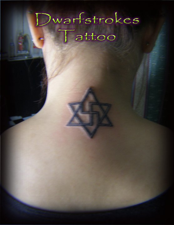 Star of David Twisted Cross Tattoo by DwarfStrokes on DeviantArt