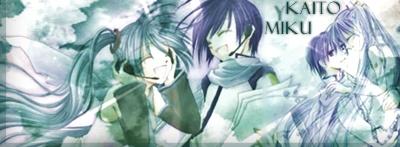 Miku Hatsune x Kaito Shion by NerineLykoris