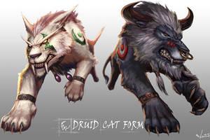 druid cat form by SiaKim