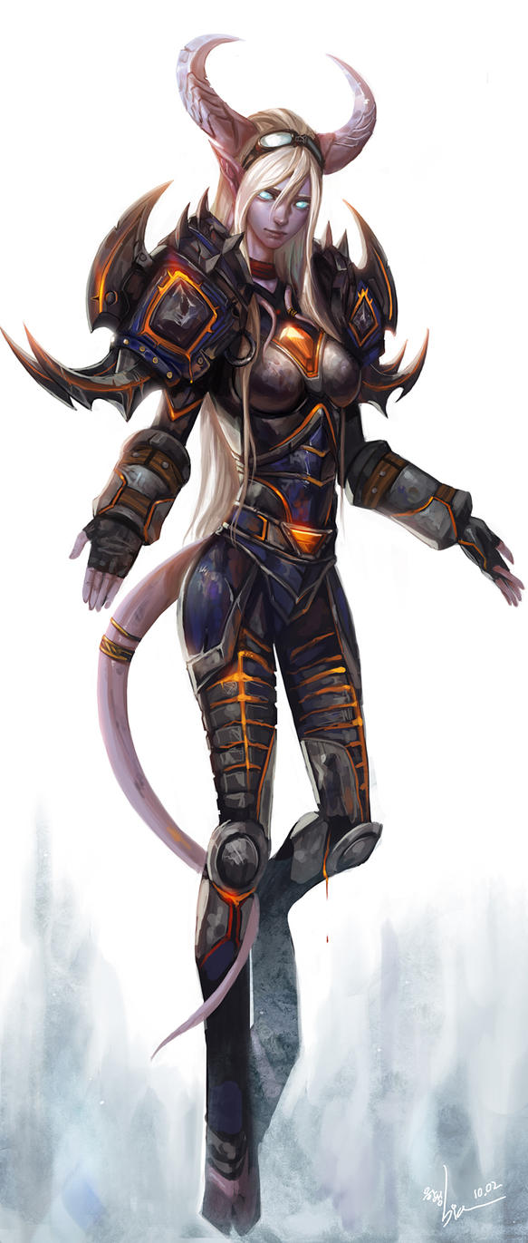 Draenei warrior by SiaKim