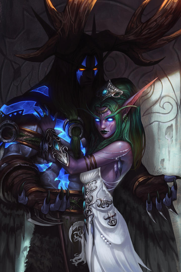 Tyrande and Malfurion by SiaKim