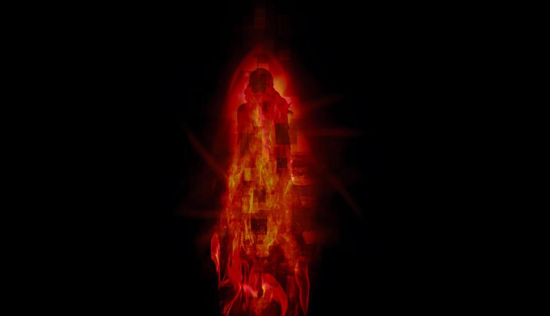 Modern painting Fiery Woman | artgeist