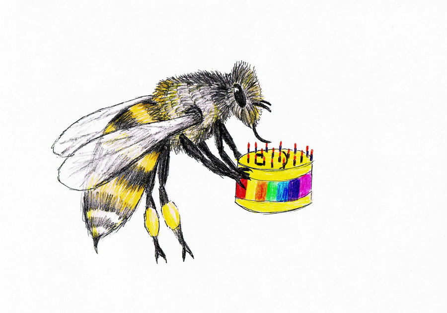Birthday BEE For Thea by thingy-me-jellyfis on DeviantArt