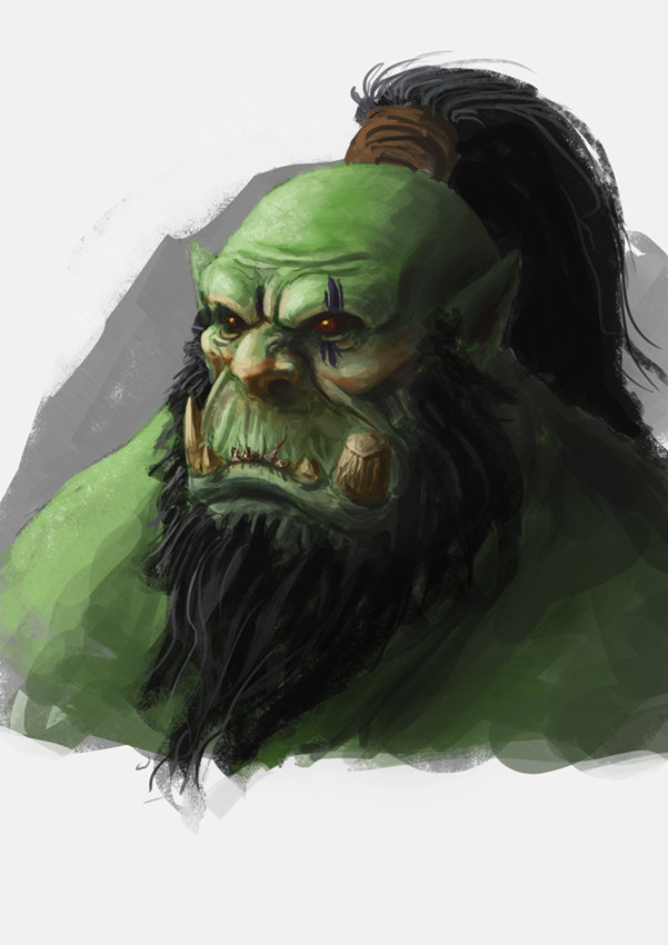 Orc sketch by Izzual
