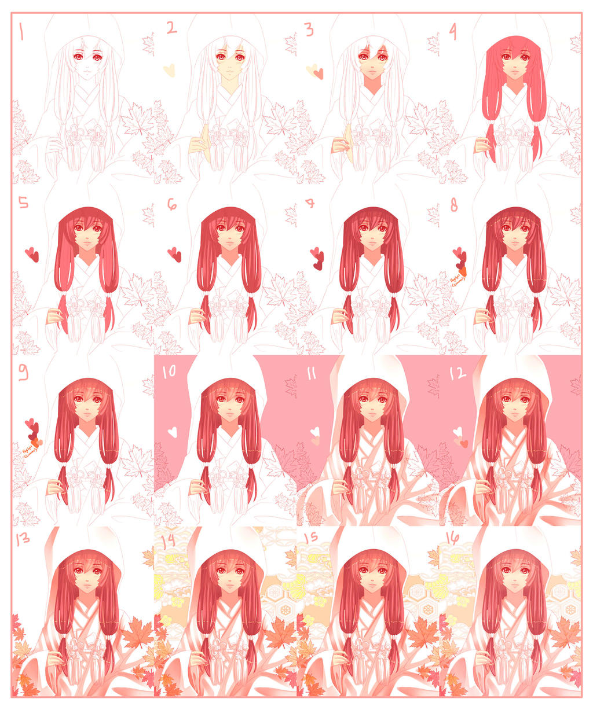 Autumn's Bride progress by nekoyasha89