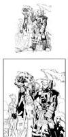 X-men 194 cover inks
