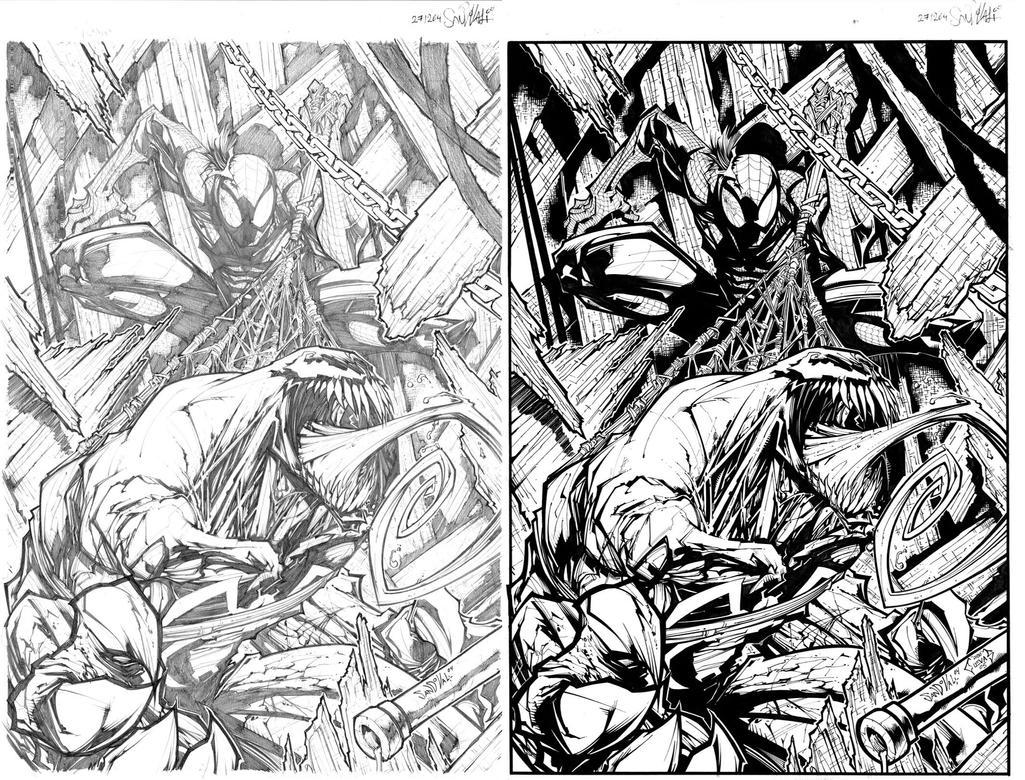 Venom Vs Spiderman Coloring Pages