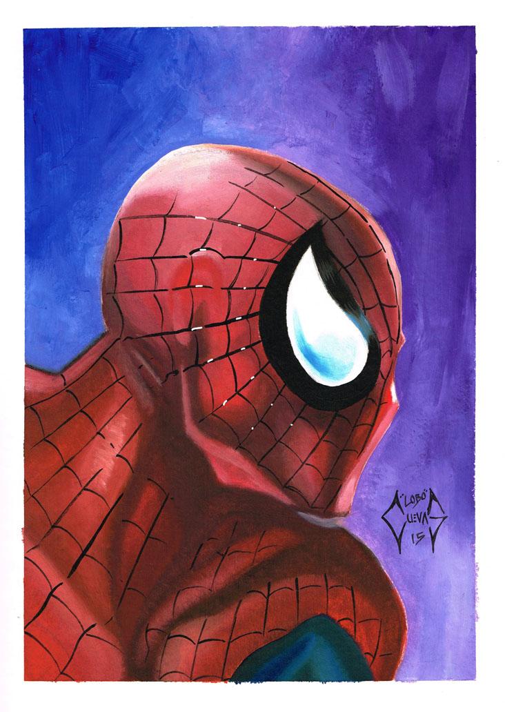 Oil painting Spiderman by Lobo-Cuevas