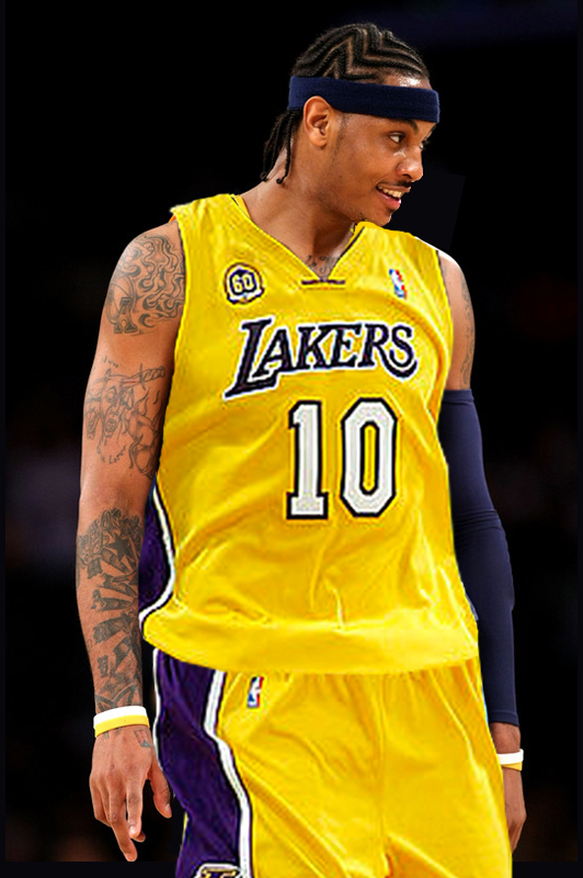 new product acbfe 9eeba Carmelo Anthony Jersey Swap by michaellui11 on DeviantArt