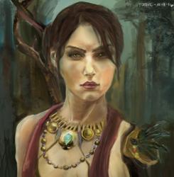 Morrigan Portrait (Dragon Age Fanart) by totopc
