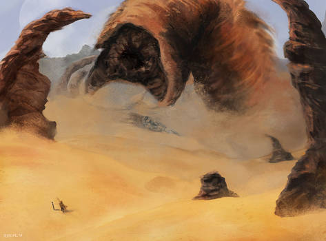 Calling the maker (Dune Fanart)