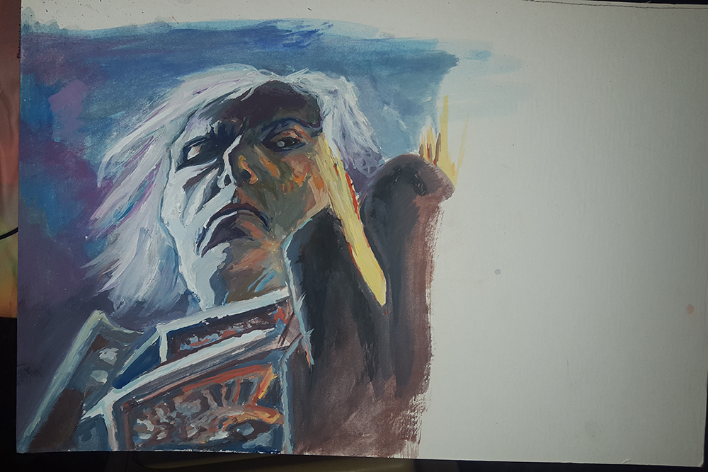 MTG Study (Smite) Gouache on Board by totopc
